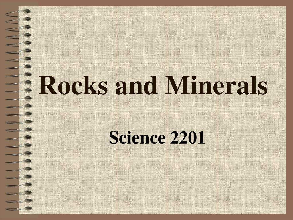 rocks and minerals l.