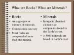 what are rocks what are minerals