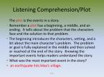 listening comprehension plot