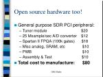 open source hardware too
