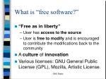 what is free software