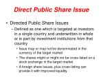 direct public share issue