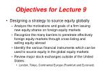 objectives for lecture 9