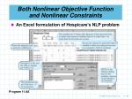 both nonlinear objective function and nonlinear constraints99