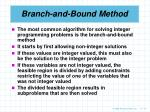 branch and bound method
