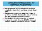 computational procedures for nonlinear programming106