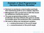 example of goal programming harrison electric revisited60
