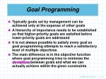 goal programming58