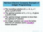 harrison electric company example of integer programming12