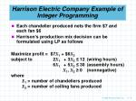 harrison electric company example of integer programming8
