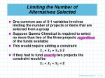 limiting the number of alternatives selected