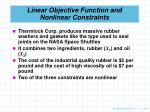 linear objective function and nonlinear constraints