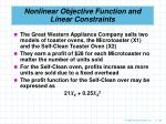 nonlinear objective function and linear constraints