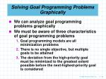 solving goal programming problems graphically