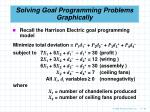solving goal programming problems graphically69