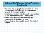 solving goal programming problems graphically70