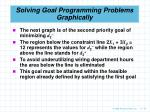 solving goal programming problems graphically72