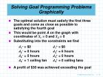 solving goal programming problems graphically76