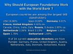 why should european foundations work with the world bank
