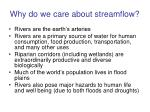 why do we care about streamflow