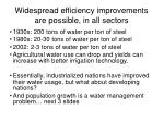 widespread efficiency improvements are possible in all sectors