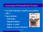 assessment of dental oral trauma