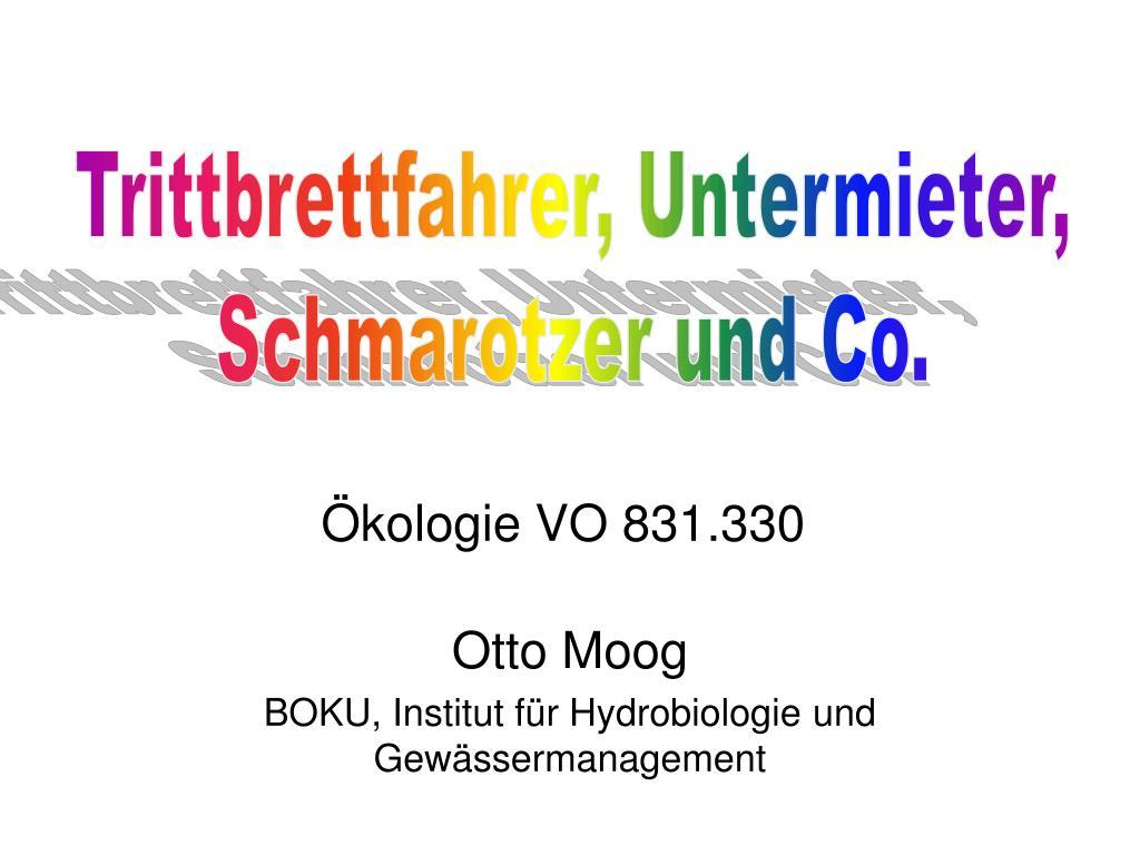 otto moog boku institut f r hydrobiologie und gew ssermanagement l.