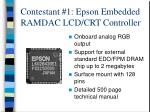 contestant 1 epson embedded ramdac lcd crt controller