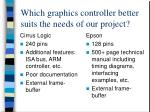 which graphics controller better suits the needs of our project