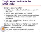 insight report on private line 2006 2012