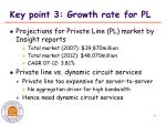 key point 3 growth rate for pl