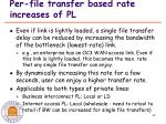 per file transfer based rate increases of pl
