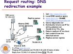 request routing dns redirection example