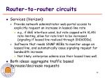 router to router circuits