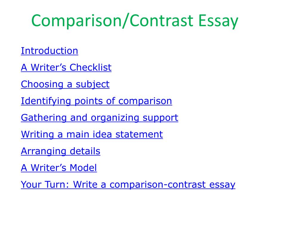 compare and contrast essays about sports