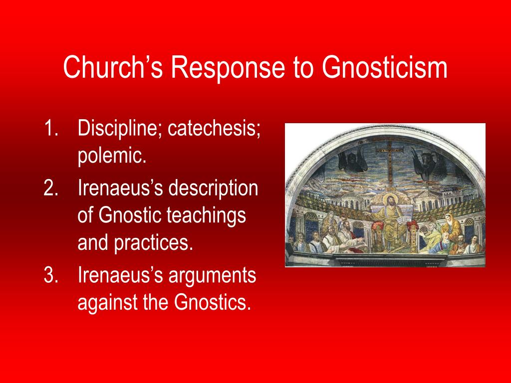 church s response to gnosticism l.