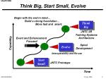 think big start small evolve