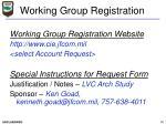 working group registration