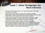 aspek 1 sektor perdagangan dan bisnis indonesia46