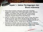 aspek 1 sektor perdagangan dan bisnis indonesia48