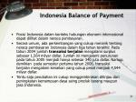indonesia balance of payment