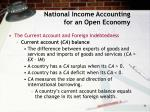 national income accounting for an open economy11