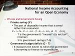 national income accounting for an open economy15