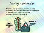 inventory bottom line