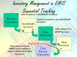 inventory management in emis sequential tracking
