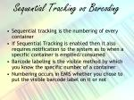 sequential tracking vs barcoding