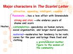 major characters in the scarlet letter4