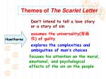 themes of the scarlet letter