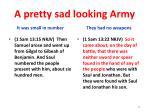 a pretty sad looking army