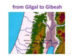from gilgal to gibeah